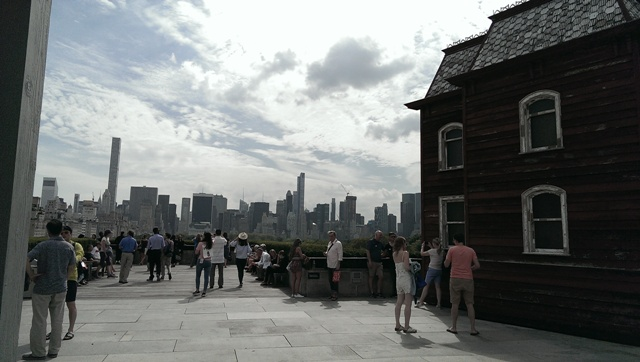 Rooftop of The MET with house art