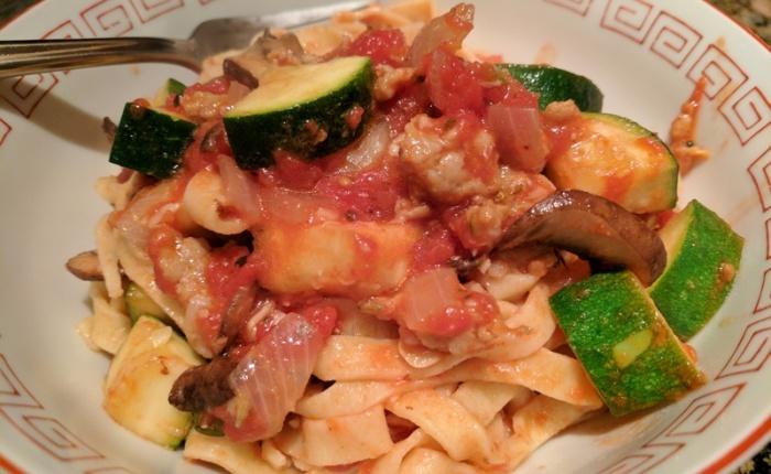 Semolina egg pasta